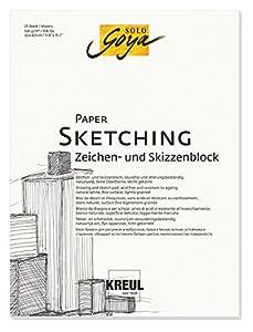 Unbekannt Solo Goya Paper Sketching, de Dibujo y bocetos, 25Hojas, 24x 32cm