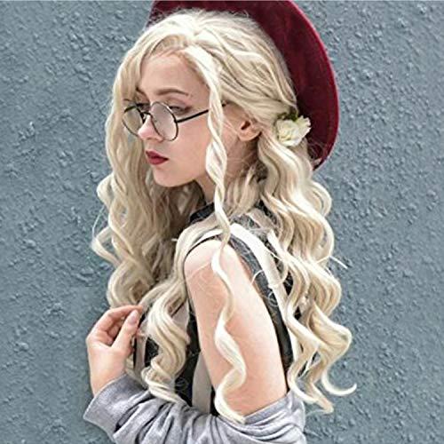 rücke Fashion Spiral Curly Lace Front 24-Zoll-Langwelle Synthetische Perücke Natürliches Aussehen - Rollenspiel Prinzessin Frisur ()