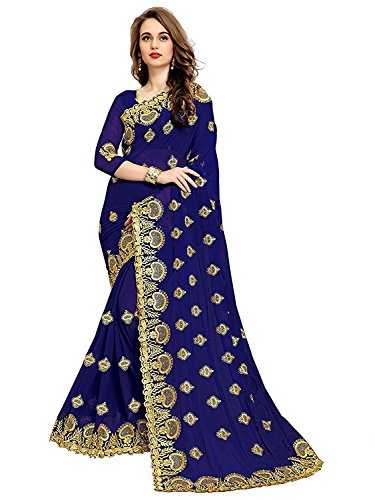 Indian E Fashion Women's Georgette saree for women latest design 2018 with...