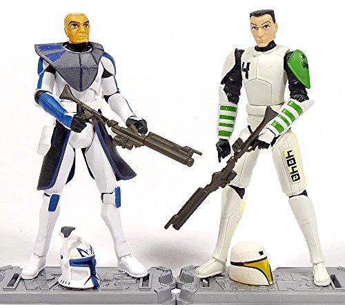 Clone Captain Rex und Clone Trooper Cutup im Set - lose /ausgepackt - Star Wars The Clone Wars Collection von Hasbro