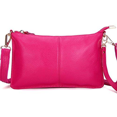 Eysee, Poschette giorno donna Nero rosa 24cm*14cm*1cm rosa