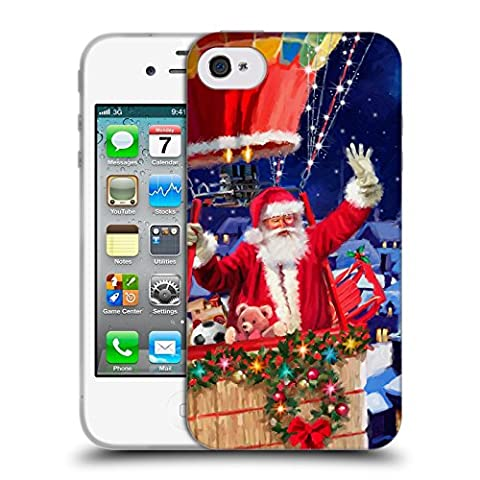 Officiel The Macneil Studio Ballon Père Noël Étui Coque en Gel molle pour Apple iPhone 4 / 4S