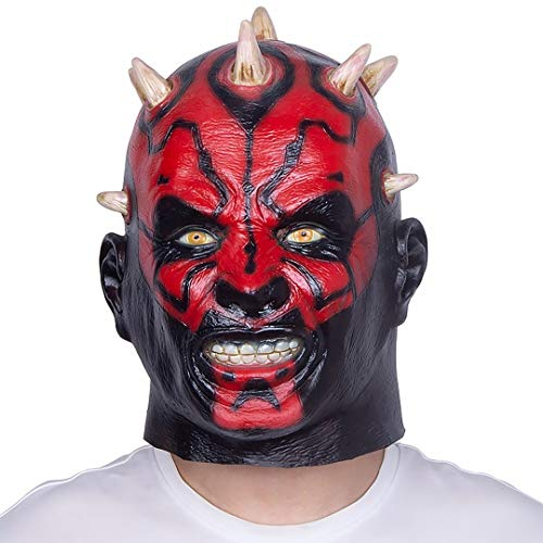 grau.zone originelle Verkleidung Party-Maske Darth Maul für Halloween Karneval Fastnacht