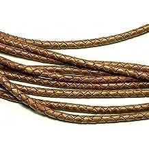 Lederband geflochten  Ø 3//4 mm 1 Meter Echt Leder Schnur Band Lederschnur LB-15