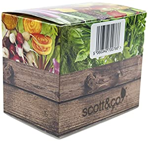 NEW Scott & Co® Seed Box - The Seed Box Contains 30 Different Varieties Of Seeds To Grow. An Unusual Selection Of Seeds From Extrordinary Purple Haze Carrots To Tremendous Chocolate Striped Tomatoes Which Make It An Exciting Kit To Grow And Eat. Containi