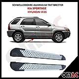OMAC Schwellerrohre Aluminium Trittbretter für iX35 SPORTAGE 2010-2015 Almond (173)