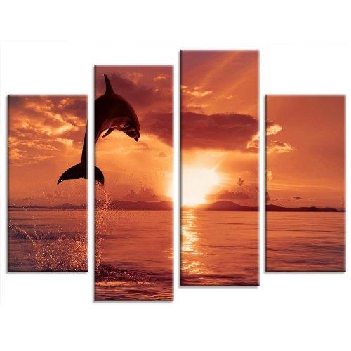 diseno-de-delfin-al-atardecer-multi-panel-lienzo-4-paneles-tamano-43-x-30