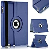 M Cart 360 Degree Rotating PU Leather Flip Case Cover for Apple iPad 2/iPad 3/iPad 4 (Model : A1460, A1459, A1458, A1416…
