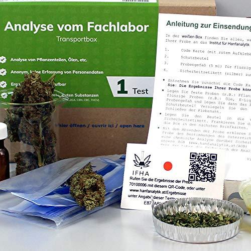 Cannabis THC CBD Hanfanalyse für Cannabisblüten, CBD Blüten, E-Liquids oder Extrakte. Schnell, sicher & anonym!