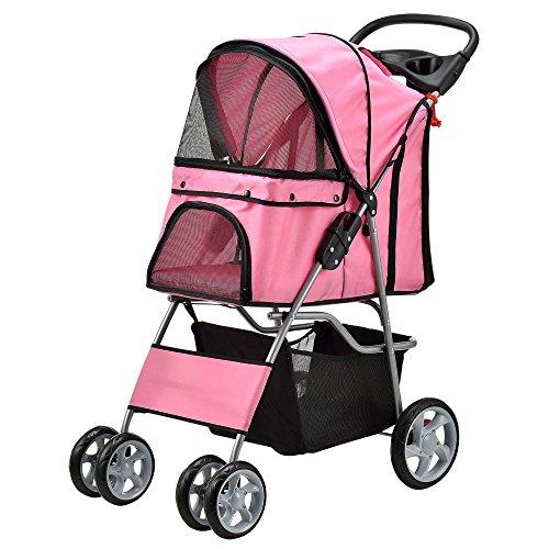 [pro.tec] Carrito para mascotas Pet Stroller Hundebuggy impermeable, para empujar, Roadster, con...