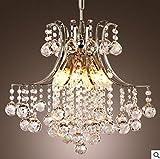 Unimall Lustre en Cristal lumières Luxe Plafonnier Designe élégant Moderne Luminaire Encastré Pendendif Eclairage de Plafond