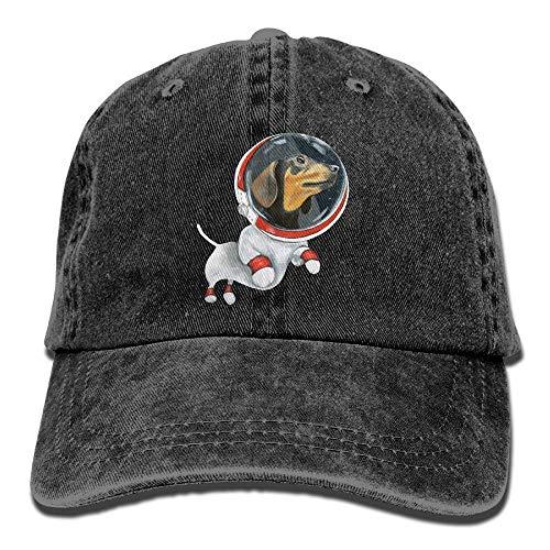 Gorgeous ornaments Galaxy Daschund Watercolor Dog Adult Cowboy HAT -