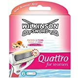 Wilkinson Sword Quattro for Women Klingen Papaya und Pearl