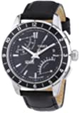 Timex Intelligent Quartz Men's Luxuary Flyback Chronograph Watch with Black Dial Chronograph Display and Black Leather - T2N495