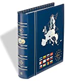 Leuchtturm 302742 Vista Euro-Münzalbum Band 2 | Für Kursmünzensätze von 12 Euro-Länder z.B. Estland u.v.a. | Inkl. 6 VISAT Münzblätter | blau