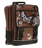 FABRIZIO ® BUTTERFLY BEAUTY Schulrucksack Rucksack Schmetterling / BROWN Pink