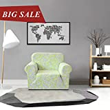 CHUN YI Printed Sofa Covers 1-Piece Polyester Spandex Fabric Stretch Slipcovers (Chair, Green)
