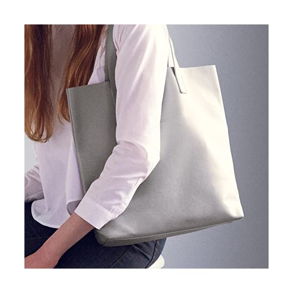 Grey Leather Tote - handmade-bags