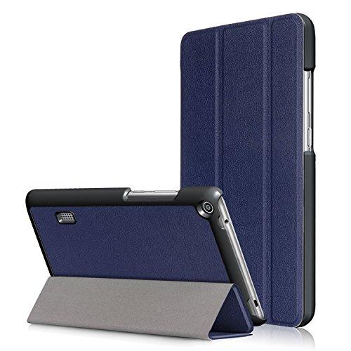 WindTeco Huawei Mediapad T3 7.0 Hülle - Ultra Dünn & Leicht PU Leder Schutzhülle mit Standfunktion für Huawei Mediapad T3 7,0 Zoll WiFi BG2-W09 Tablet 2017 Release, Marineblau