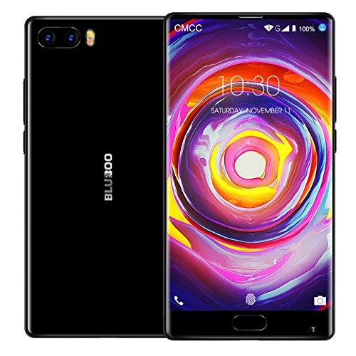 BLUBOO® S1 4G LTE Cat6 Smartphone Android 7.0 Nougat 5.5 inch [Vollbild - Full Screen], 4GB RAM 64GB ROM, 5.0MP + 13.0MP Megapixel Kamera, Type-C, 3500mAh Batterie 4.4V - [Schwarz] S1 Prozessor Dual