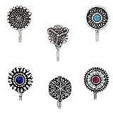 Om Jewells Silver Oxidise Jewellery Combo of 6 Designer...
