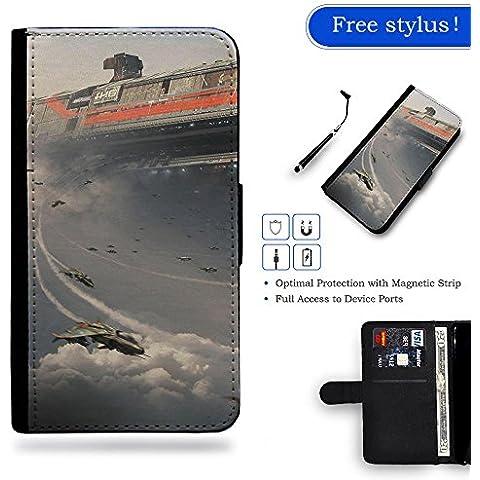 Free Stylus Gift LveCell Phone Case // Cellulare Cassa del cuoio Caso Custodia protettiva Copertura per Samsung Galaxy S3 i9300 // Train Aircraft Fantasy Art Science Fiction