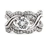 Best 1000 Jewels Wedding Ring Sets - 1000 Jewels Women's 3 3.58Ct 3 Pc Ring Review