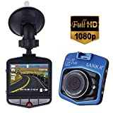 Dash Cam by Anmyox Full HD 1080P 170 Wide Angle Dashboard Camera, Easy to Install Car Dvr Built In G-Sensor Loop Recorder Motion Detection, Blue