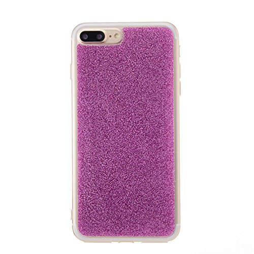 iPhone 6 Plus Hülle, iPhone 6S Plus Hülle, Valenth Bling Sparkly Powder Soft TPU Silikon Stoßstange für iPhone 6 Plus / 6s Plus Purple 7 Plus