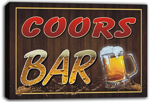 scw3-069672-coors-name-home-bar-pub-beer-mugs-stretched-canvas-print-sign