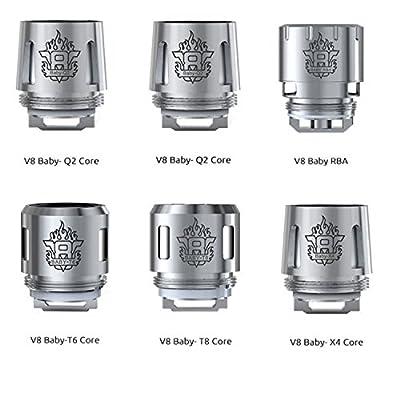 DIY-24H - Smok 2er Pack V8 Baby X4 - 0.15 Ω Ohm Verdampferköpfe für TFV8 Baby Beast Coils Head von DIY-24H