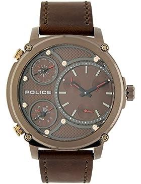Police Analog Brown Dial Men's Watch-PL14830JSBN12AJ