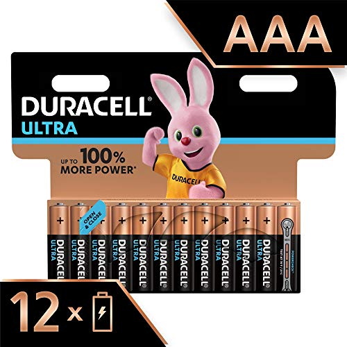 Duracell Ultra Power Piles Alcalines Type AAA, Lot de 12 Piles (Visuel non Contractuel)