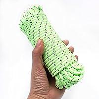 OULII Resplandor luminoso en el cordón oscuro cordón reflectante tipo cuerda para tienda de campaña toldo