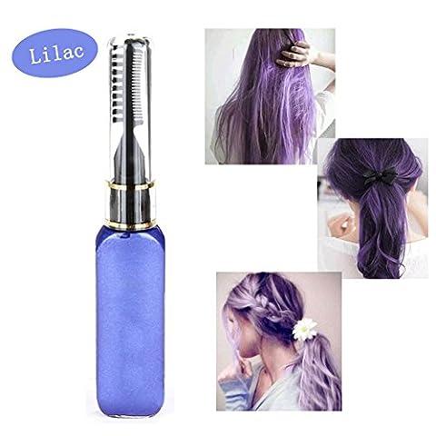 Haarkreide - Greencolourful Mode Langlebige Einweg Haar Farben Creme Haare Färben Kreide Haartönungen mit Kämme, Flieder