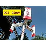 Domus 250D25Sarrieus Savonius - Generador de energía eólica de tamaño mini, para hogar, con eje vertical, 250W