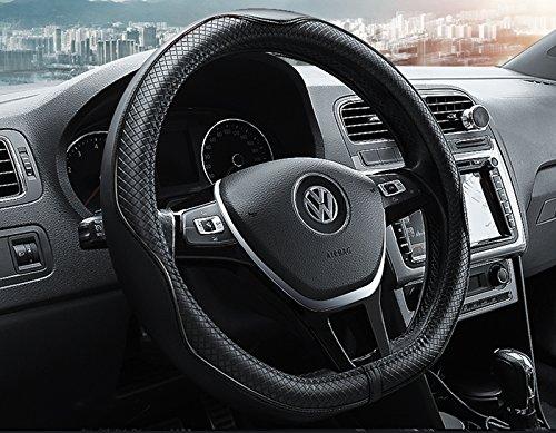 """HONCENMAX D Typ Fahrzeug Lenkradabdeckung Auto Lenkradschutz D-Form Durchmesser 38cm (15"""") - Echtleder"""