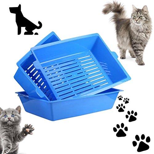 gugutogo Katze Bettpfannen Semi geschlossen Spritzschutz Katze WC-Katzentoilette Pet Supplies