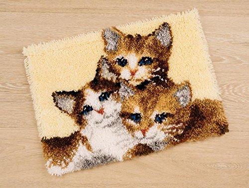 Vervaco PN-0147357 Knüpf Wandbehang 3 Kätzchen -