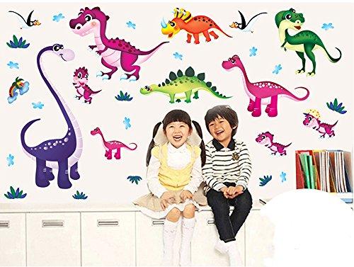 579de7a029bcc5 Ufengke® Animaux De Bande Dessinée Dinosaures Mignons Stickers Muraux,  Chambre Des Enfants Pépinière Autocollants