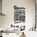 Best Gourmet Recipes - Sticker Spanish Wall Decoration Gourmet Vinyl Wall Art Review