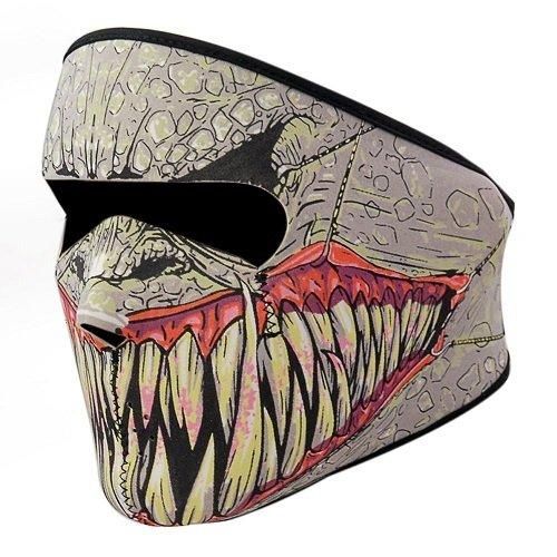 KT-SUPPLY 2 in 1 Neopren Maske Mit Klettverschluss Erwachsene Für Motorrad (Spandex Herren Kostüme)