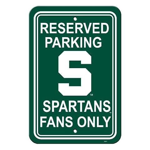 Die Fremont 50239 Michigan State Spartans-12 in. X 18 in. Plastic Parkverbot (Michigan Hockey Jersey)