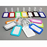 10Pcs Plastic Travel School Luggage Suitcase Bag Baggage Tags Labels Name ID Card
