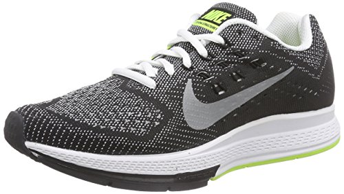 Nike Air Zoom Structure 18 Damen Laufschuhe Mehrfarbig (White/Reflective Silver/Black/Volt)