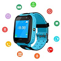 Kids SmartWatch, Waterproof Kids Watch with GPS Positionnement, SOS, Photograph, 1.44 Inch Screen, Call, Support SIM Smart Band for Boys, Girls
