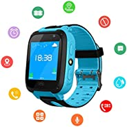 Kids SmartWatch, Waterproof Kids Watch with GPS Positionnement, SOS, Photograph, 1.44 Inch Screen, Call, Suppo