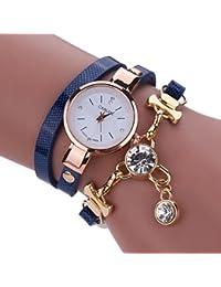 Clearance. Las mujeres de relojes Sonnena disfraz muñeca relojes reloj de pulsera analógico reloj de pulsera joyería Set, venta caliente reloj de pulsera, 2018para fiestas Club Casual relojes reloj de acero inoxidable de regalo del día de San Valentín, Deep Blue, Watch