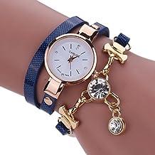 -Sonnena - Reloj analógico para mujer con correa de metal, informal, ideal para