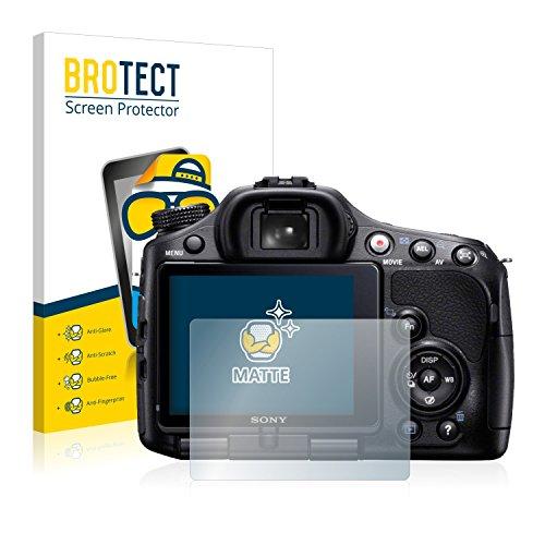 BROTECT Schutzfolie Matt für Sony Alpha 65V (SLT-A65V) Displayschutzfolie [2er Pack] - Anti-Reflex Displayfolie, Anti-Fingerprint, Anti-Kratzer